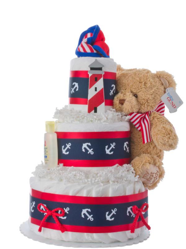 Lil' Nautical Diaper Cake for Boys