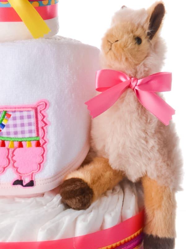 Lena the Llama Diaper Cake