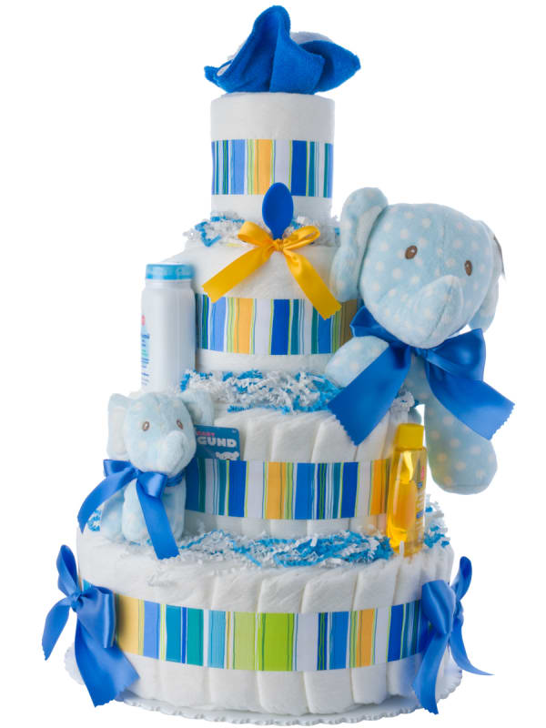 Lolly and Friends Baby Elephant Diaper Cake