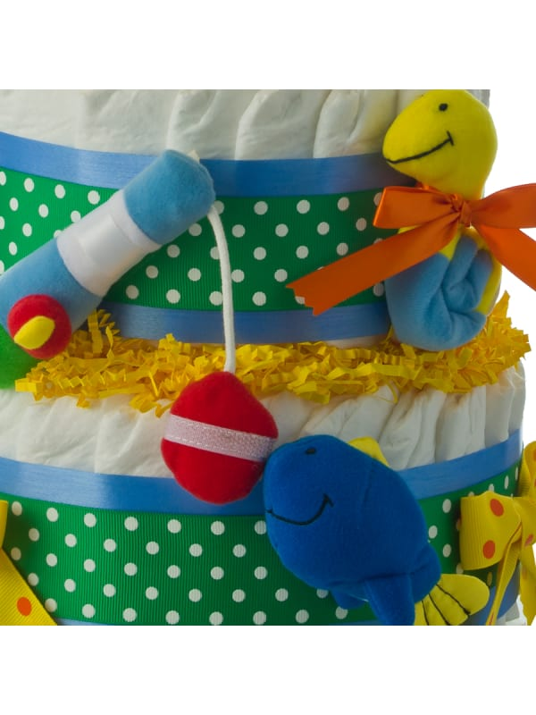 First Tackle Box 2 Tier Diaper Cake