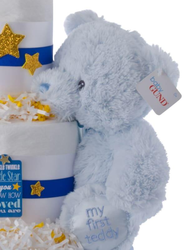 Twinkle Twinkle 3 Tier Diaper Cake for Boys