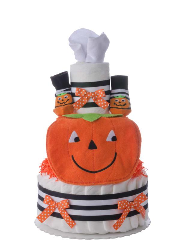My Lil' Pumpkin Baby Diaper Cake