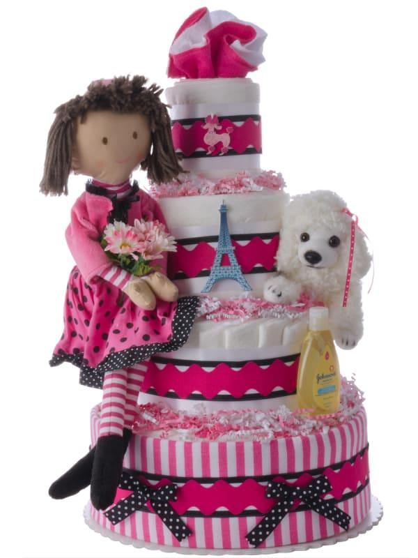 Oo-La-La Paris Diaper Cake for Girls