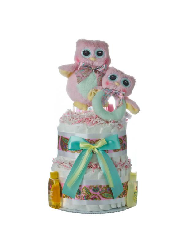Lil Owl Diaper Cake