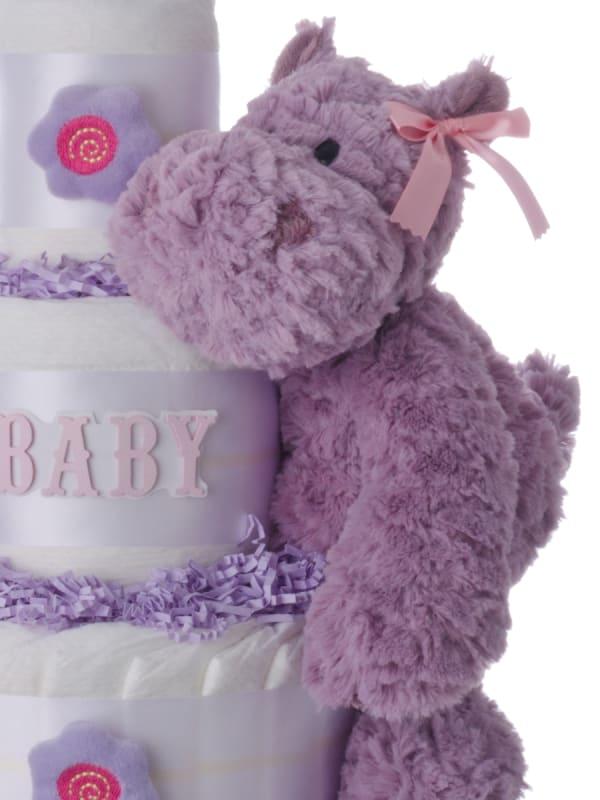 Happy Hippo Girls Diaper Cake
