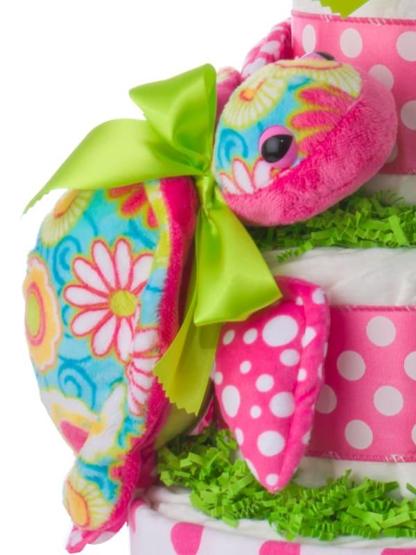 Aloha Turtle Diaper Cake for Girls