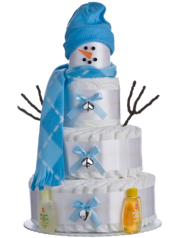 Holiday Snow Boy 4 Tier Diaper Cake