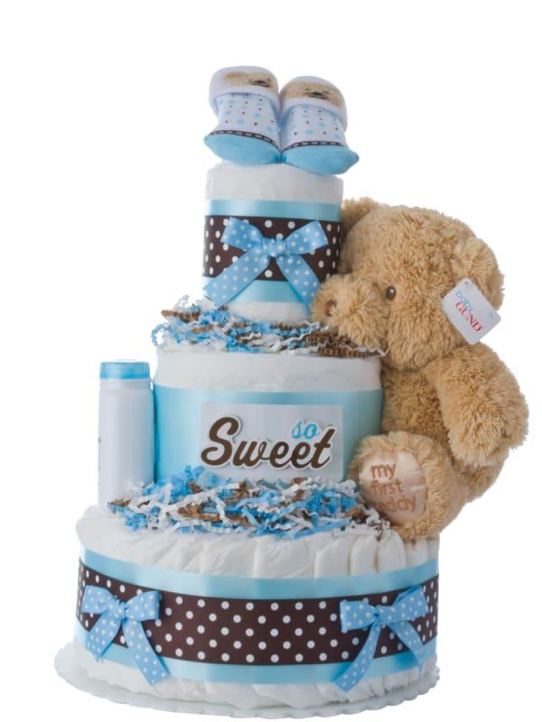 So Sweet Baby Diaper Cake for Boys