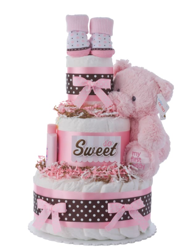 So Sweet Baby Diaper Cake for Girls