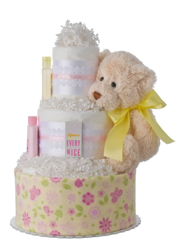 Sugar and Spice Diaper Cake for Girls