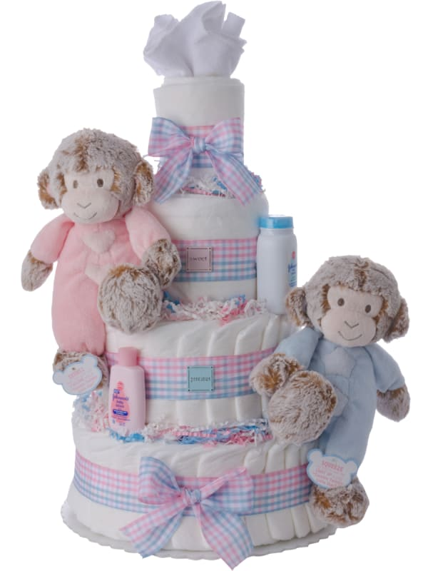 Sweet and Precious Twins Diaper Cake (choose combination)