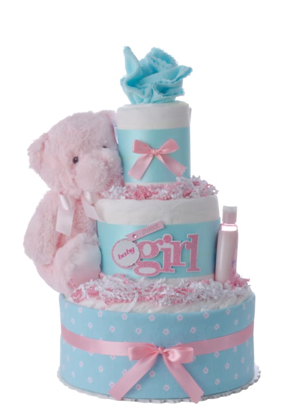 So Sweet 3 Tier Diaper Cake for Girls