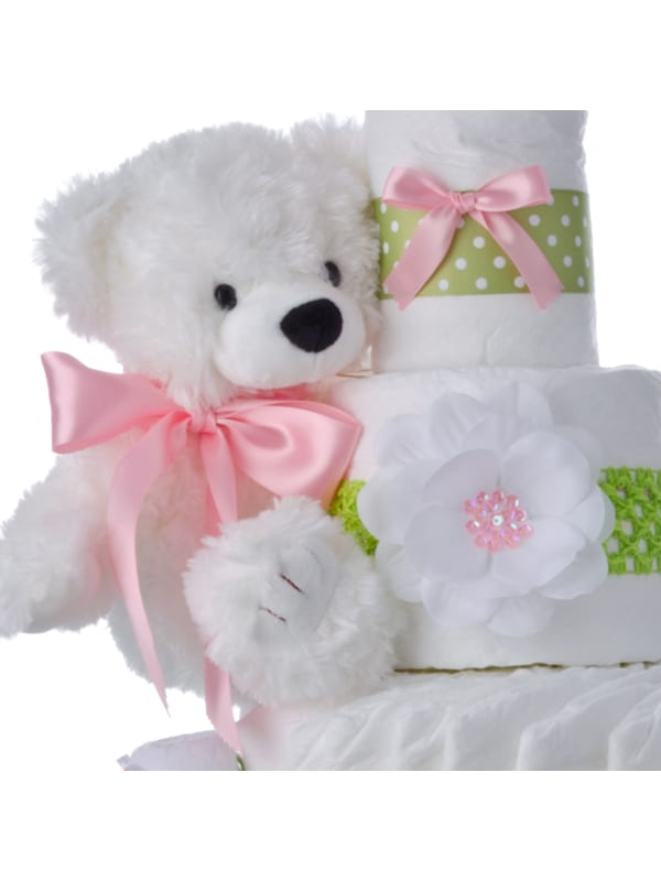 Sweet Baby Girl Diaper Cake