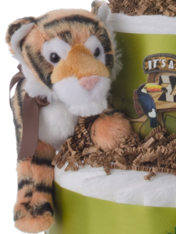 It's a Zoo Out There Baby Diaper Cake