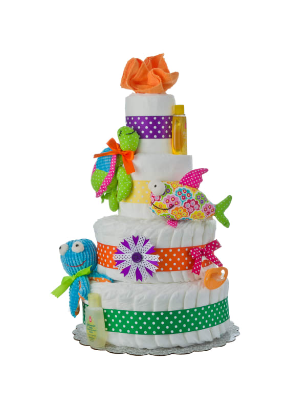 My Lil' Sea Friends 4 Tier Baby Diaper Cake