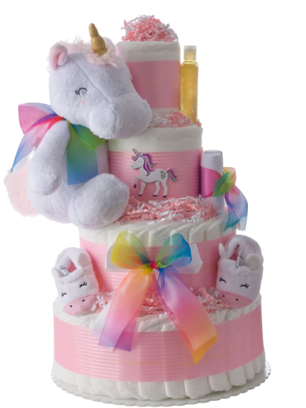 My Lil' Unicorn Diaper Cake for Girls