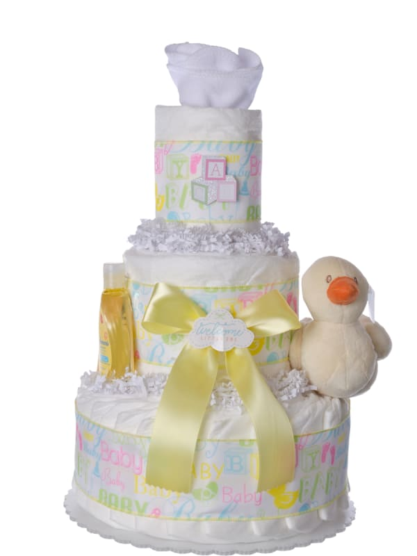 Welcome Lil' One Baby Diaper Cake
