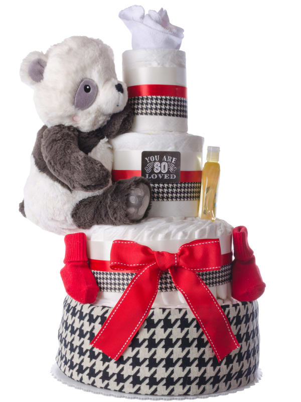 You Are So Loved Baby Boy Diaper Cake