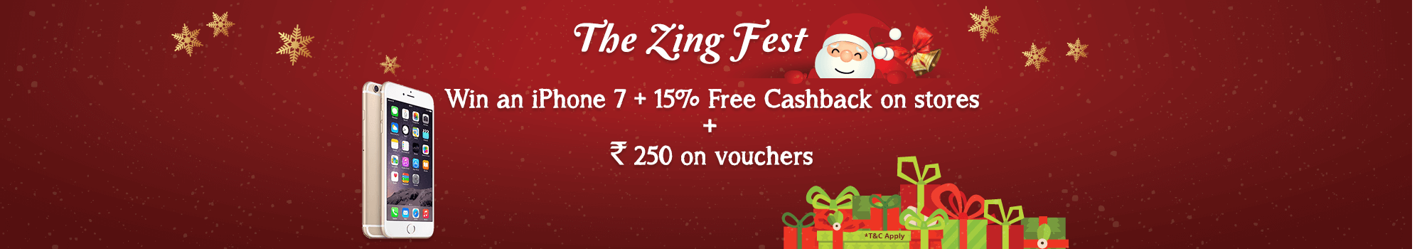 Zing Fest Cashback Offer