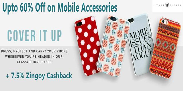 Stylefiesta   mobile accessories upto 60  off xuggtw