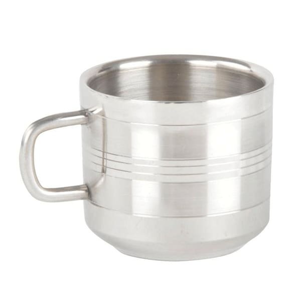 Double Wall Stainless Steel Tea & Coffee Cups (Set of 6)