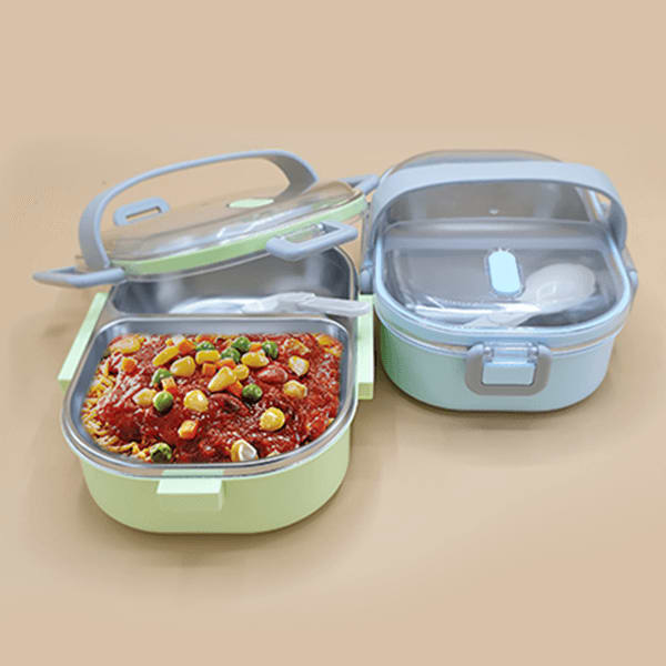 Leak Proof Stainless Steel Lunch Box For School And Office(Assorted Colors)
