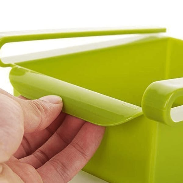 Multipurpose Storage Rack Tray Boxes For Fridge Set Of 2  (Assorted Colour)