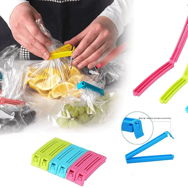 Multicolor Plastic Food Clip Sealer - 18 Pieces