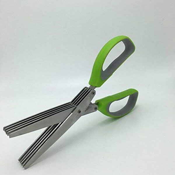 5 layers stainless steel vegetable scissor for fine chopping  slider 1 lktglq
