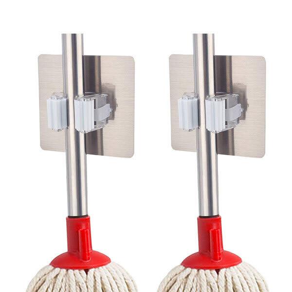 Multipurpose wall mounted broom   mop hanger holder slider  1  m04akk
