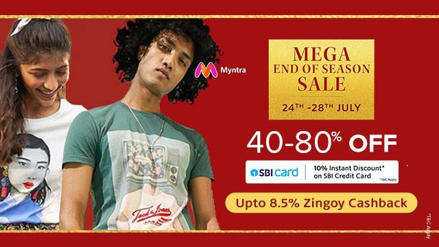 Myntra Mega End of Season Sale 2021