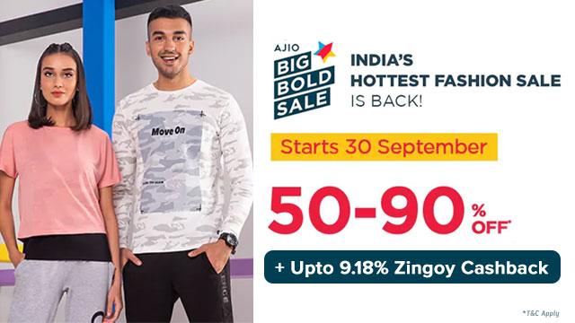 Ajio Big Bold Sale 2021 offers