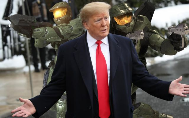 Critics Slam Trump For Welcoming Football Team With Halo 3 LAN Party Instead Of Halo 5 Multiplayer