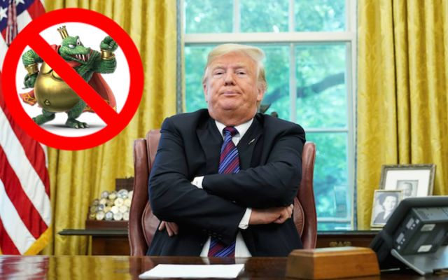 Trump Refuses To End Government Shutdown Until K. Rool Gets Nerf