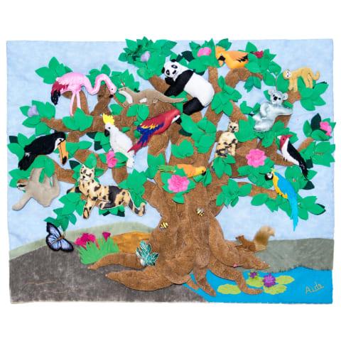 ARP153M Tree of Life Arpillera