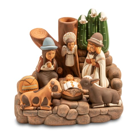 FVN114M Holy Family with Cactus