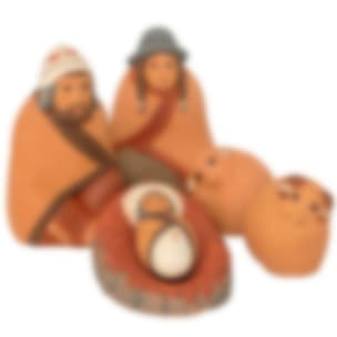 FVN513M Rounded Textured Nativity