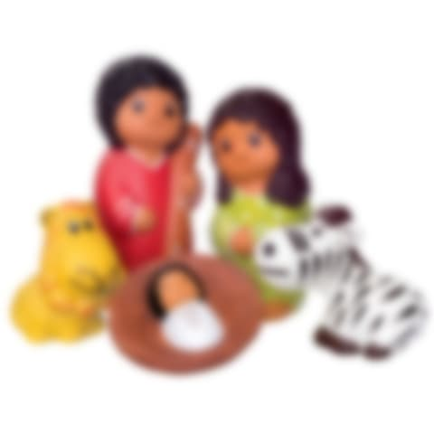 FAN655S African Ceramic Nativity