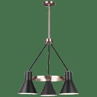 Towner Three Light Chandelier Satin Brass