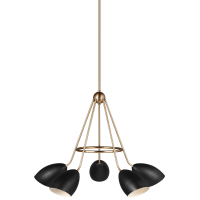 Summer Five Light Chandelier Midnight Black