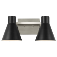 Towner Two Light Wall / Bath Brushed Nickel Bulbs Inc