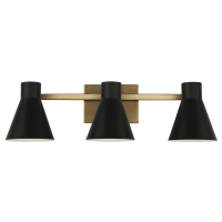 Towner Three Light Wall / Bath Satin Brass