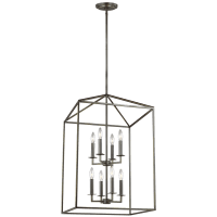 Perryton Large Eight Light Hall / Foyer Heirloom Bronze
