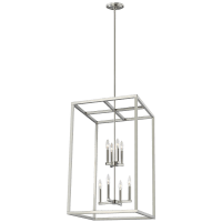 Moffet Street Large Eight Light Hall / Foyer Brushed Nickel Bulbs Inc