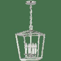 Dianna Four Light Small Lantern Brushed Nickel