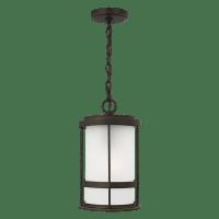 Wilburn One Light Outdoor Pendant Lantern Antique Bronze Bulbs Inc