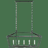 Dianna Five Light Medium Linear Chandelier Midnight Black Bulbs Inc