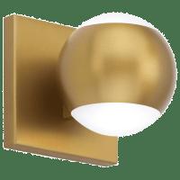Oko 1-Light Wall/Bath 1 Light Aged Brass 3000K 90 CRI led 90 cri 3000k 120v