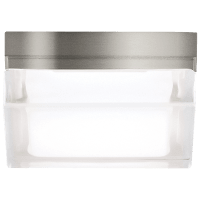 Boxie Small Flush Mount Small Satin Nickel 3000K 90 CRI led 3000k 120v
