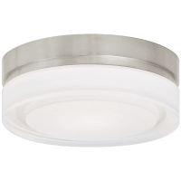 Cirque Small Flush Mount Small Satin Nickel 3000K 90 CRI led 90 cri 3000k 277v